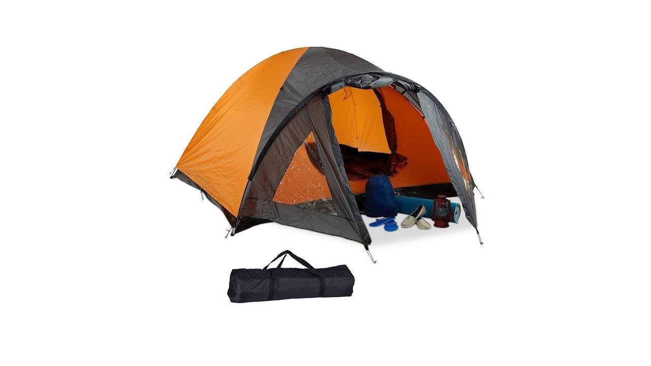 Video von: Campingzelt für 3-4 Personen mit Vorzelt