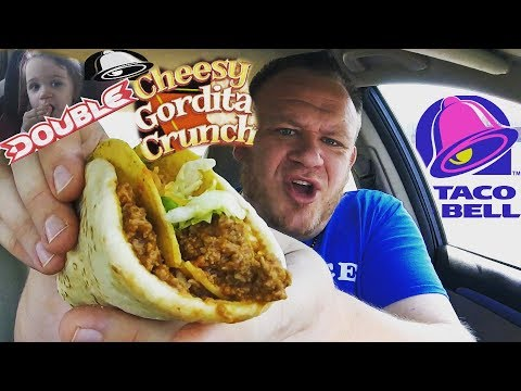 Taco Bell ☆DOUBLE CHEESY GORDITA CRUNCH☆ w/BabyBigBites Food Review!!!