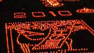 辻八幡の神殿入(こうぞのり) 綺麗な光の祭典