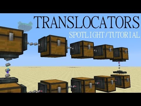 Minecraft Spotlight: TRANSLOCATORS (1.6.4) -= Mod Showcase & Tutorial =-