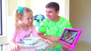 Nastya dan ayah menunjukkan apa yang terjadi jika YouTube pergi