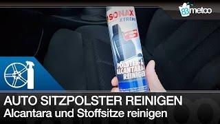 Auto Sitzpolster Alcantara und Stoffsitze reinigen | Sonax Xtreme Polster- & Alcantarareiniger