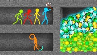 Minecraft VS Stickman Alan Becker - Animation vs Minecraft Shorts (AVM Shorts 18) Fan Made Original