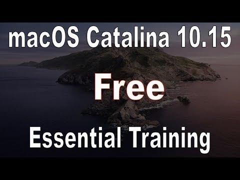 macOS 10.15 Catalina free Essential Training | 2021 - YouTube