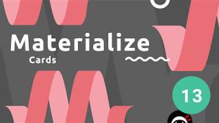 Materialize Tutorial #13 - Cards