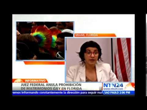 """Declaran """"inconstitucional"""" ley que prohibía matrimonio homosexual en Florida"""