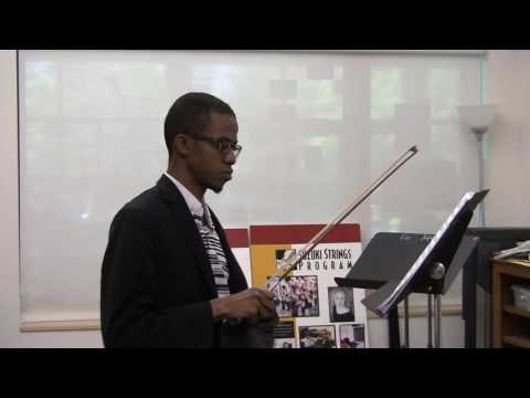 First movement of Mozart violin concerto number four