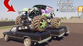 MONSTER JAM MULTIPLAYER | LIVE STREAM! | HUGE JUMPS! | FARMING SIMULATOR 2019