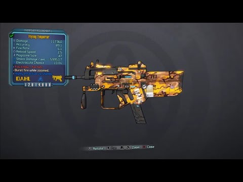 Borderlands 2 Legendary Weapons guide Emperor SMG - смотреть