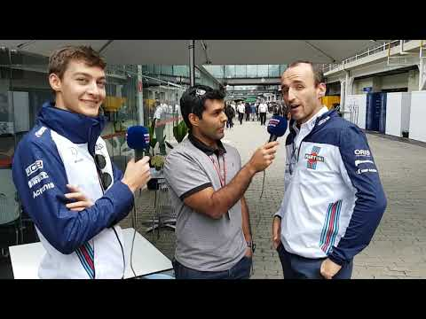 Karun Chandhok is joined by Robert Kubica & George Russell for #WilliamsTV in Brazil