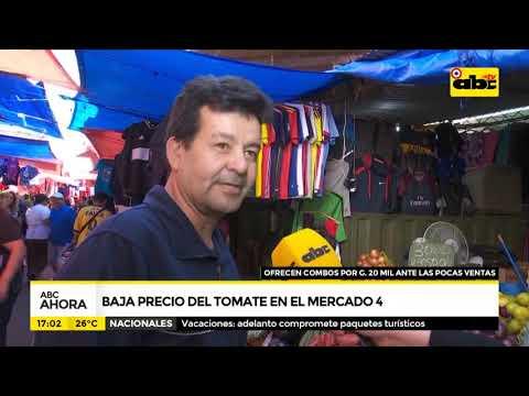 Baja el precio del tomate en el Mercado 4