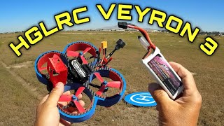 HGLRC Veyron 3 Cinewhoop Test Flight Review 3s 4s LOS FPV