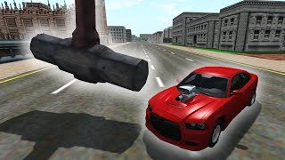HAMMER vs CARS! Obstacle course. BeamNG Drive Crashes 2019