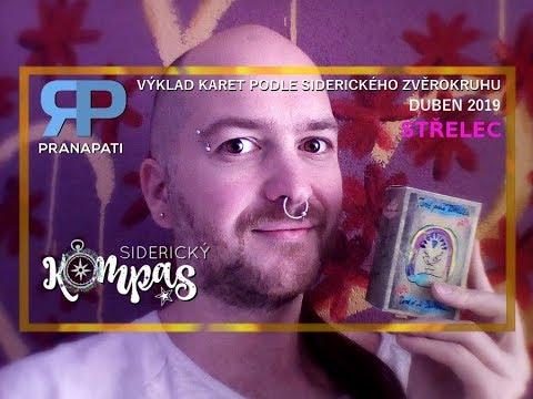Siderický kompas - Střelec - duben 2019 - výklad karet