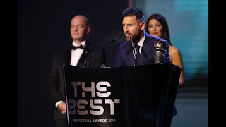Lionel Messi reaction - The Best FIFA Men's Player 2019