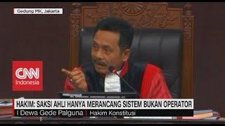 Hakim Konstitusi: Saksi Ahli Hanya Merancang Sistem Bukan Operator