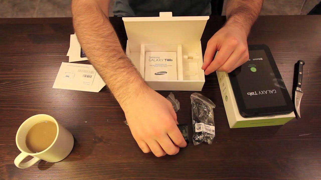 Samsung Galaxy Tab Unboxing (Bell Version) thumbnail