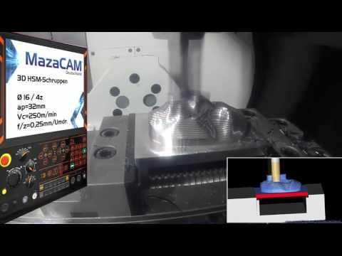 MazaCAM 3D Bearbeitung