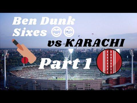 Ben Dunk Amazing Sixes vs Karachi Kings   Part 1   Shorts