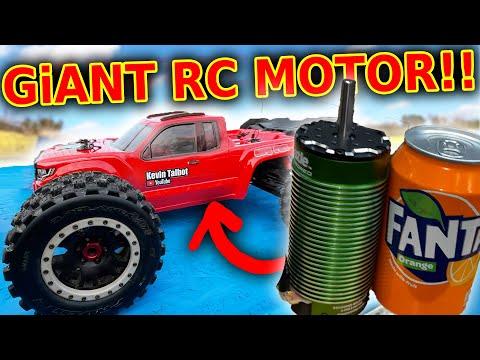 GiANT FAST motor in BiG rc car - Arrma Kraton 8s + 1100kv XLX2
