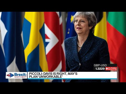 May's Own Brexit Chief Rejects Her Latest Idea on Quitting EU