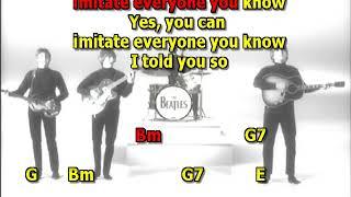Dig a pony Beatles mizo lead vocal no guitars l lyrics chords cover