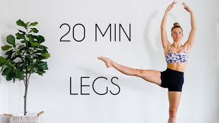 LONG & LEAN LEGS Workout (Toned Ballet Legs/No Equipment)
