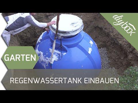 Regenwassernutzung: Unterirdischen Regenwassertank einbauen