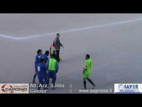 """Preview video Atl. Azzurri S.RITA-GINOSA 0-0 Ginosa sfiora il colpo al """"Citiolo"""" in una gara condizionata da un forte vento e un arbitraggio discutibile"""
