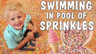 GIANT POOL FILLED WITH SPRINKLES!!