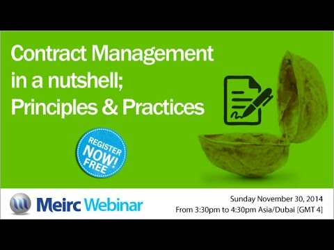 Contract Management in a nutshell principles and practices ...