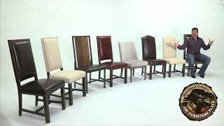 Leather Upholstered Dining Chairs And Other Urban Rustic Chair Designs