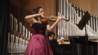 Ravel Sonata for Violin and Piano. Francy Orjuela, Violin - Gustavo Schafaschek, Piano