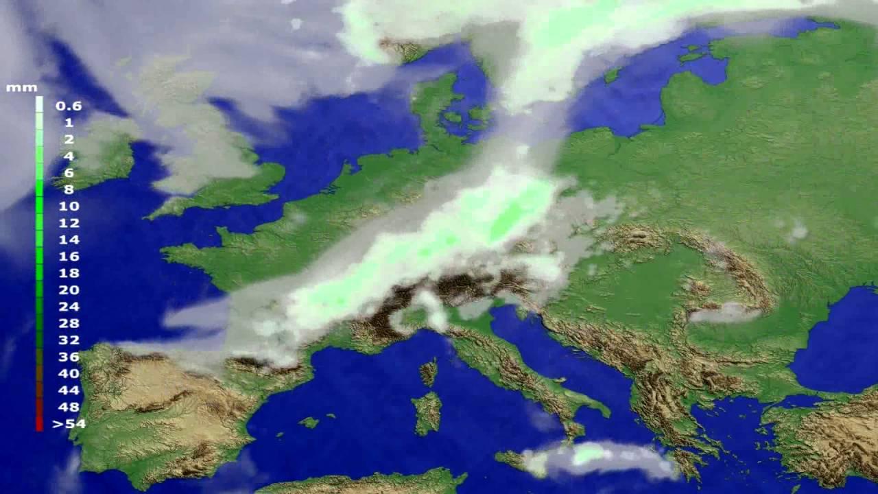 Precipitation forecast Europe 2016-06-21