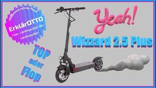 Wizzard 2.5 Plus ⚡500Watt 26Ah Akku 100km Reichweite ⚡120KG TestPilot E-Scooter mit Straßenzulassung