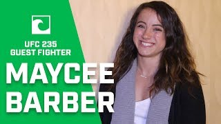 EXCLUSIVE: Maycee Barber In Las Vegas Supporting Teammate Anthony Smith at UFC 235