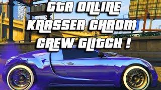 GTA ONLINE KRASSER CHROM CREW GLITCH | GTA ONLINE MODDED CHROM CREW PAINT JOBS