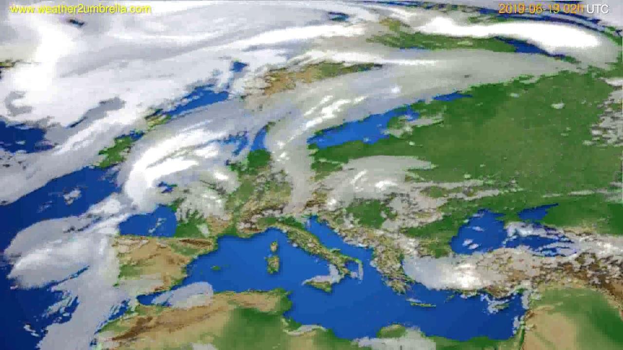 Cloud forecast Europe // modelrun: 00h UTC 2019-06-17