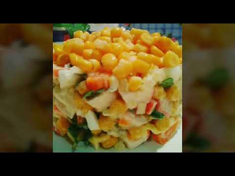 ВКУСНЕЙШИЙ Салат из КРАБОВЫХ палочек, КУКУРУЗЫ Imitation crabmeat salad.