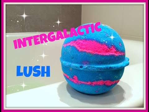 LUSH Review/Demo  Bath Bomb Intergalactic