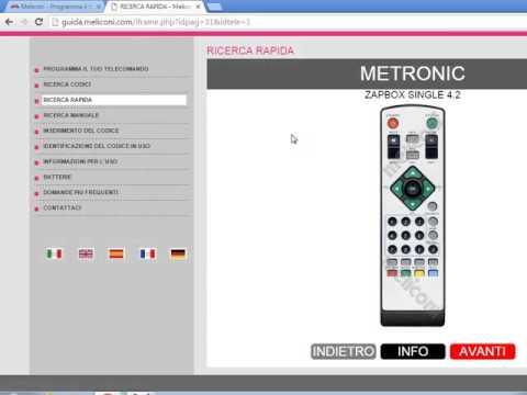 MELICONI SENIOR 2 PROGRAMMAZIONE RAPIDA TELECOMANDO