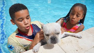 Dog ALMOST DROWNS, Kids SAVE HIS LIFE   FamousTubeFamily