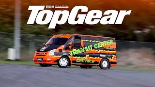 Ford Transit V8 - bokiem czy na okrągło? | TopGear Polska | Drift