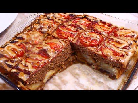 تورتة اللحمة المفرومة اختراع لوجبة غداء او عشا شهية جداا لا تفوتك _ { بنت الشيف }