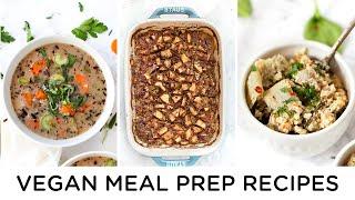 EASY VEGAN MEAL PREP RECIPES ‣‣ Gluten-free & Healthy Too!