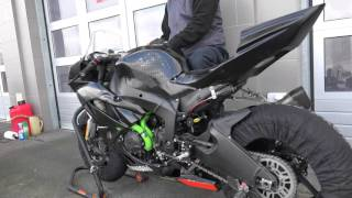 R2 MotorRacing Team - first warming up for Kawasaki ZX6R test bike - 24th of February, 2016.