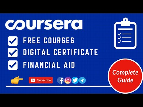 How to Enroll in Coursera Free Courses | Free Certificate on ...