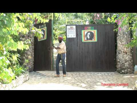 Bob Marley's house and mausoleum in the village of Nine Miles, Jamaica.