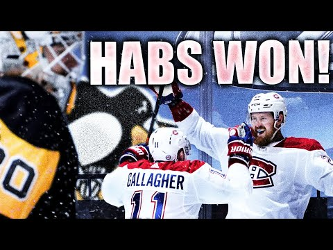 HABS WIN GAME 1 VS PENS (JEFF PETRY OVERTIME GOAL LIVE REACTION: Montreal Canadiens VS Penguins NHL)