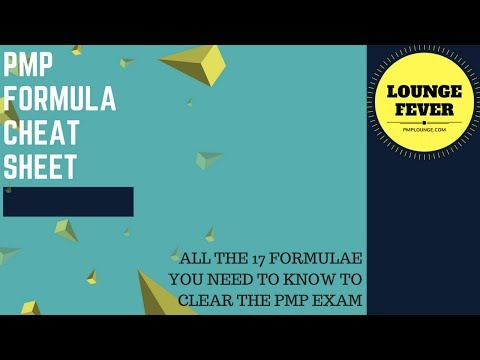 PMP Formula Cheat Sheet - All the 16 Formulae you need to know ...